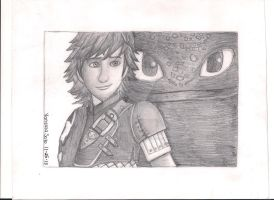 Hiccup and Toothless- Httyd 2 by aquavanessa27
