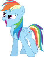Rainbow Dash by paperprisma
