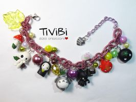 Ghibli friends bracelet by tivibi