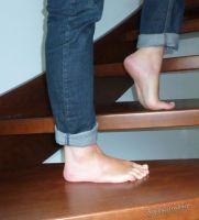 Barefoot On The Stairs by KarinaDreamer
