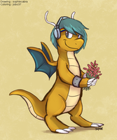 Picking up the flowers (colored) by Sjru