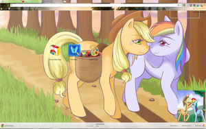 Appledash A trot at twilight by Midnight-Page