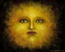 Sun Face by aaronsdesign