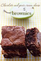 Chocolate pear brownies by kupenska
