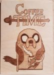 Woodburning - Adventure Time Themed Coffee Time by Stepher17