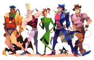 STARDUST CRUSADERS by millionfish
