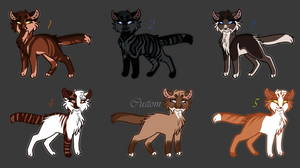 Warrior Adopts|Closed by gingerIemon
