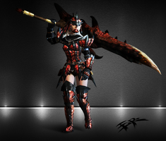 (ER) MH3 - Rathalos (Female) BladeMaster by IIReII