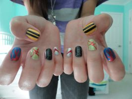 Transformers Nails by bee930
