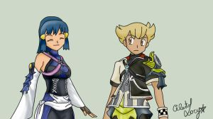 Pokemon meets Kingdom Hearts Birth by Sleep by Celeste-Lory