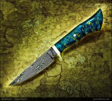 Blue Ceros Hunting Knife by Logan-Pearce