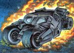 THE BATMOBILE TUMBLER OVERSIZED SKETCH CARD by AHochrein2010