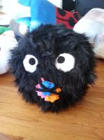 Soot Sprite Pillow by OddCurio