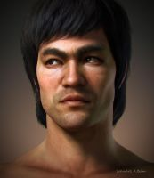Bruce Lee by LotusArtDe