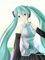 Miku Hatsune (Coloring Test) by CeloTheImpossible
