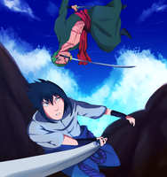 sasuke vs zoro by dimifrost