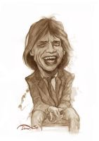Mick Jagger sketch by StDamos