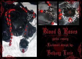 Blood and Roses rosary by redLillith