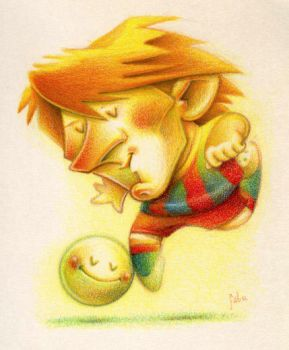 Messi by faboarts