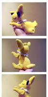 Sleepy Jolteon Plush by nettlebeast