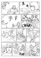 Comic page sketch by Tohad