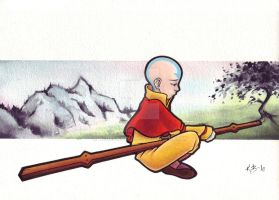 Aang - The Last Airbender by BlueUndine