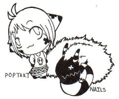 Poptart and Nails by sparrowdragon