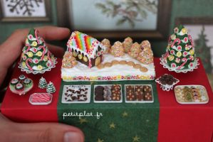 Close-Up of the Christmas Dessert Table by PetitPlat