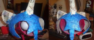 Nightmare Moon Cosplay Helmet WIP by XXSelfDestructXX