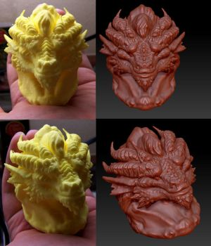 First Bust test from 3D printer by Vertaki