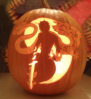 Rand al'Thor Pumpkin Light Version by johwee