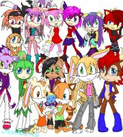 All Sonic girls by HezuNeutral