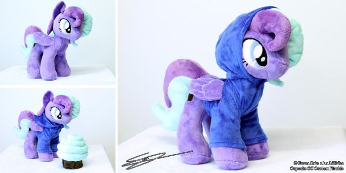 Cupcake Pony Plushie With Hoodie Commission by LiChiba