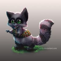 Commission - A Boyscout Racoon that loves patches by NezuPanda