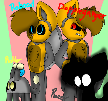 My own characters by SpeedyCat1234