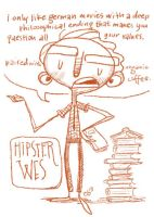 Hipster Wes by hooraylorraine