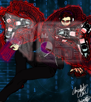 Commission: $P3NC3R/SPENCER: The Hacker by AmethystClaw
