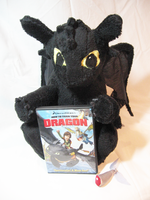 HTTYD: Toothless plushie by SirLadySketch