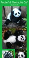 OOAK Realistic Panda Cub Posable Art Doll by Eviecats