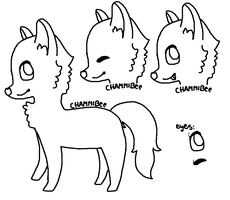 Free Dog Lineart by ChammiBee