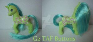 My little Pony Custom G2 TAF Buttons by BerryMouse