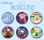 Vocaloid- Badges by criis-chan