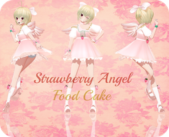 MotME : Strawberry Angel Food Cake by Crystallyna