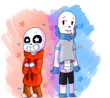 Underswap Sans and Papyrus - Clothes Swap by ludmilabb2