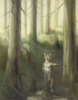 A Fox of the Forest Children by Zethelius