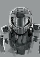 MAster Chief Portrait by TheBoyofCheese