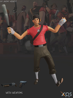 Scout - Team Fortress 2 (Blue and Red) by JhonyHebert