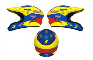 5 Car over the wall helmets by Jenkins-Graphics