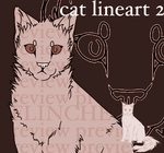 CAT LINEART 2 by flinchex