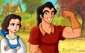 Belle and Gaston by xBooxBooxBear